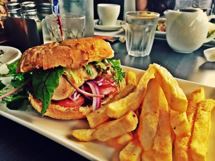 2-4-1 Beef Burger & Drink Only $24.90, Think Local Deal, Garden Terrace Cafe