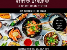 Winter Warmers: Shared Asian Feast $30